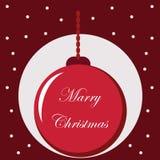 Fondo tipografico con gli elementi di Natale Fotografie Stock Libere da Diritti