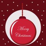Fondo tipografico con gli elementi di Natale Fotografia Stock Libera da Diritti