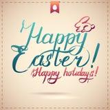 Fondo tipografico felice di Pasqua Fotografia Stock Libera da Diritti