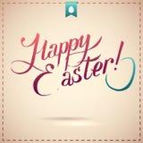 Fondo tipografico felice di Pasqua Fotografia Stock