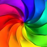 Fondo torcido abstracto colorido ilustración del vector