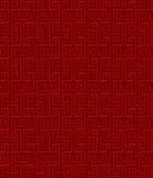 Fondo tradicional chino del modelo del espiral del cuadrado del tracery de la ventana del vintage inconsútil Fotografía de archivo libre de regalías