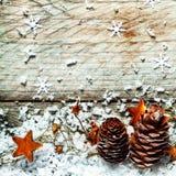 Fondo tradicional del advenimiento o de la Navidad Fotografía de archivo libre de regalías