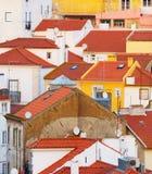 Fondo tradicional Portugal de la arquitectura de Lisboa Imagen de archivo libre de regalías