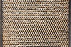 Fondo tradizionale del bambù del tessuto dell'artigianato immagine stock