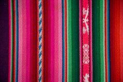 Fondo tradizionale Textu colourful del tessuto di Boliva della lana di Wooven Fotografia Stock Libera da Diritti