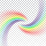 Fondo transparente blanco realista del icono del arco iris