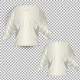 Fondo transparente de Front Back Realistic Design Icon de la plantilla de la camiseta aislado libre illustration