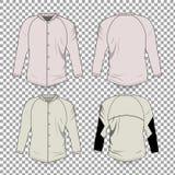 Fondo transparente de Front Back Realistic Design Icon de la plantilla de la camiseta aislado stock de ilustración