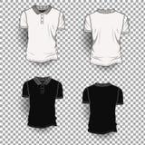 Fondo transparente de Front Back Realistic Design Icon de la plantilla de la camiseta aislado ilustración del vector
