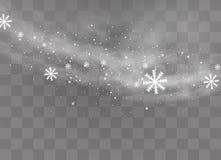 Fondo transparente de la nieve ilustración del vector