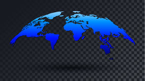 fondo transparente del mapa del mundo 3D Ilustración del Vector