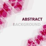 Fondo traslapado del hexágono rosado abstracto ilustración del vector