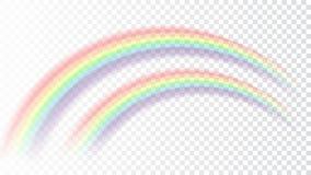 Fondo trasparente bianco isolato realistico dell'icona dell'arcobaleno Immagini Stock Libere da Diritti