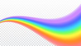 Fondo trasparente bianco isolato realistico dell'icona dell'arcobaleno royalty illustrazione gratis