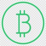 Fondo trasparente di cryptocurrency del logotype di Bitcoin ENV 10 Immagine Stock Libera da Diritti