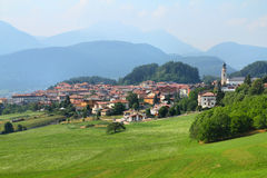 Fondo, Trentino, Italien Lizenzfreie Stockfotos