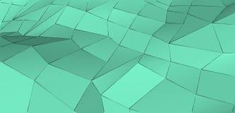 Fondo triangolare di verde astratto moderno della menta fresca Concezione di freschezza e di purezza Fotografie Stock