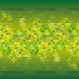 Fondo triangolare giallo verde per annunciare progettazione moderna della carta da parati - Vektorgrafik illustrazione vettoriale