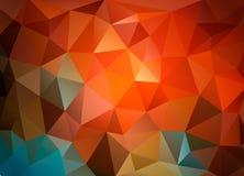 Fondo triangolare variopinto per la presentazione di affari, stile corporativo Fotografie Stock