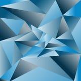Fondo a triangolo dell'estratto di vettore Backg a triangolo blu illustrazione di stock