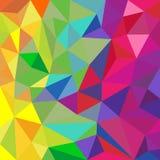 Fondo triangular del extracto del modelo del color del arco iris stock de ilustración