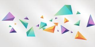 Fondo triangular multicolor del tema 3D imagen de archivo libre de regalías