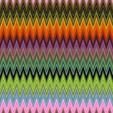 Fondo triangular ondulado colorido abstracto hermoso del modelo de la capa de la textura del zigzag de la pintura de Digitaces fotografía de archivo