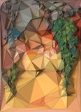 Fondo triangular poligonal coloreado extracto del mosaico representación 3d Fotografía de archivo