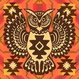 Fondo tribale con il gufo royalty illustrazione gratis