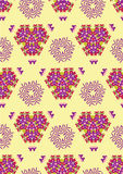 Fondo tribale di ethno senza cuciture del romb Modello geometrico senza fine illustrazione vettoriale