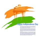 Fondo tricolor indio para décimo quinto August Happy Independence Day de la India Fotos de archivo libres de regalías