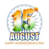 Fondo tricolore indiano per quindicesimo August Happy Independence Day dell'India Fotografia Stock Libera da Diritti