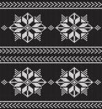 Fondo tricottato in bianco e nero di vettore Fotografie Stock