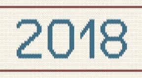 Fondo tricottato con l'iscrizione 2018 Immagini Stock