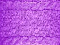 Fondo tricottato della lana - viola Immagine Stock