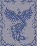 Fondo tricottato senza cuciture - uccello magico illustrazione vettoriale