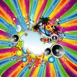 Fondo tropical de la danza del disco ilustración del vector
