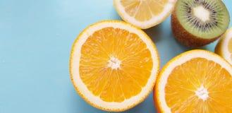 Fondo tropical de la fruta anaranjada fresco fotografía de archivo libre de regalías