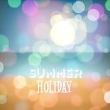 Fondo tropical de la playa de las vacaciones de verano Imagenes de archivo