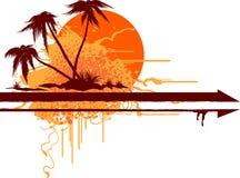 Fondo tropical del grunge ilustración del vector