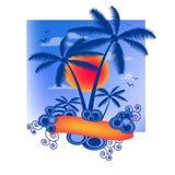 Fondo tropical del verano Fotografía de archivo libre de regalías
