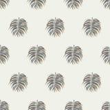 Fondo tropical inconsútil del modelo de las hojas de palma Fotografía de archivo libre de regalías
