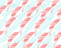 Fondo tropical Modelo inconsútil del vector con la palma exótica Tr Fotos de archivo