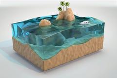Fondo tropicale dell'acquario Fotografia Stock Libera da Diritti