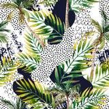 Fondo tropicale della palma di estate astratta royalty illustrazione gratis