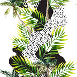 Fondo tropicale della palma di estate astratta illustrazione vettoriale