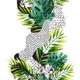 Fondo tropicale delle foglie di estate astratta illustrazione di stock