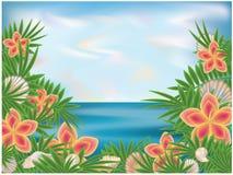 Fondo tropicale di estate Immagini Stock Libere da Diritti