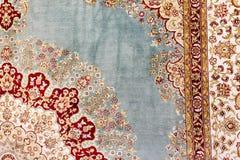 Fondo turco del tappeto Fotografia Stock Libera da Diritti